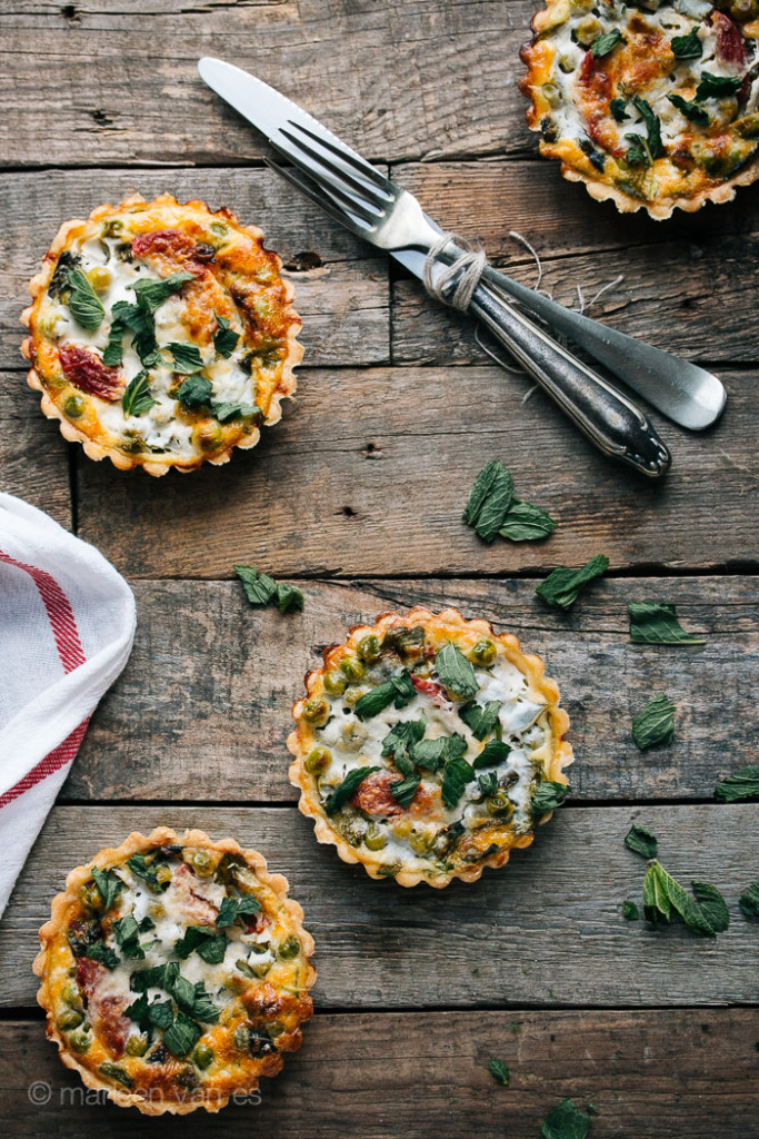 Tartlets with spring vegetables